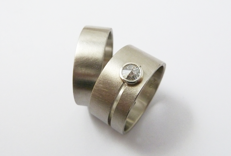 Ehering 950 Platin, Ring Ehefrau Spirit Diamond